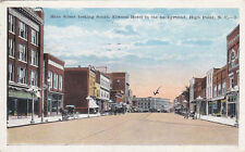 HIGH POINT, North Carolina, PU-1929; Main St looking S, Elwood Hotel in backgrou