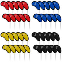 Golf Club Head Covers 10Pcs/Pack Iron Headcovers Fit Most Irons New Meshy Black