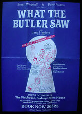 Vintage Playbill WHAT THE BUTLER SAW - Playhouse 1987 - Stuart Wagstaff