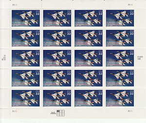 DEPARTMENT OF THE AIR FORCE ANNIVERSARY STAMP SHEET -- USA #3167 32 CENT 1997