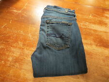 """7 FOR ALL MANKIND THE SKINNY IN MEDIUM ILLUSION (EUC) SIZE 0 W25""""X L28"""" AWESOME"""