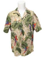 Vintage RJC Multicolor Tropical Parrots Palm Trees HAWAIIAN SHIRT Mens Size 2XL