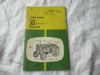 John Deere 70 tractor operator's manual