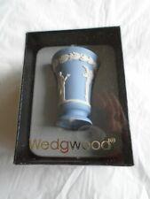 Wedgwood Miniature Jasper Bacchus Vase - Blue - New with Box