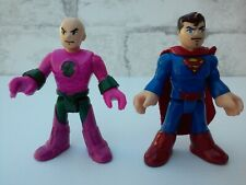 Fisher Price Imaginext DC Super Friends Superman Lex Luther Man of Steel Lot