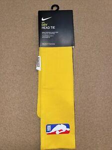 Nike NBA Dri Fit 2.0 Head Tie -Laker Yellow With NBA Logo