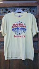 Whamo hacky sack and frisbee festival instructor vintage t shirt sz L lt yellow