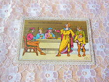 Victorian Greeting Card/Medieval Figures Dining/Marcus Ward
