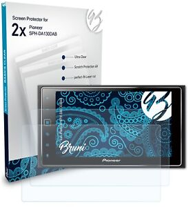 Bruni 2x Protective Film for Pioneer SPH-DA130DAB Screen Protector