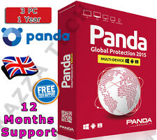 Panda Global Protection 2015 3 Pc dispositivo del usuario 1 Año! de activación de clave de licencia