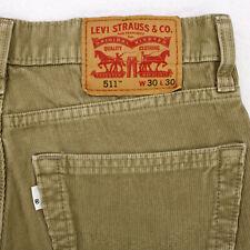 LEVI'S 511 Slim Fit Tapered TAN KHAKI CORDUROY JEANS PANTS MEN'S 31 x 28