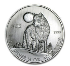 """2006 $1 Canada Timber Wolf half 1/2 oz .999 Silver Coin """"Mint Sealed"""" Free S/H!"""