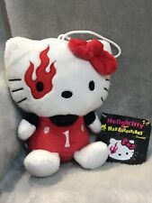 """Vintage Hello Kitty and Mad Barbarians 7"""" Plush Soft Toy Red Devil Flame 2009"""