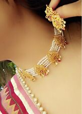 Indian Pakistani Bollywood  Imitation Jewelry Choker Necklace Earrings Wedding