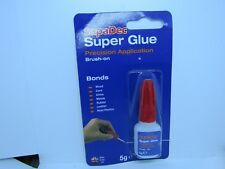 SUPER GLUE--5g bottle brush on Bonds wood, china, metals, rubber, leath