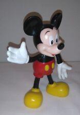 Walt Disney Mickey Mouse Tv Film Toy Masudaya Figure Plastic Rubber Doll 14 cm