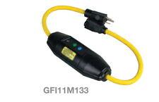 1pcs - COOPER GFI11M133 15A 125VAC MANUAL RESET 2FT IN-LINE GFCI CORDSET