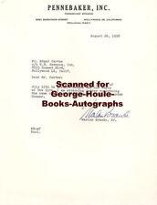MARLON BRANDO~LETTER~1958~LITERARY AGENT