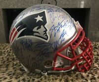 2019 SB CHAMPS PATRIOTS TEAM Signed AUTH PROLine HELMET BiG GriLL BRADY EDELMAN