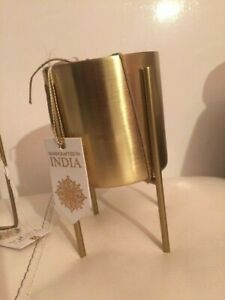 Gold Metal Indoor House Plant Flower Pot Cover Stand Holder Christmas gift