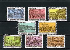 Rwanda 1980 Sc#993-1000 tableaux Belgian Revolution Ensemble de 8 TIMBRES MNH