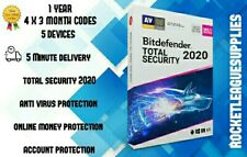 BitDefender Total Security 2020 1 YEAR 5PC WINDOWS MAC Official Key Codes 🔑