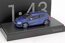 Volkswagen VW Scirocco R bleu métallisé 1:43 Norev