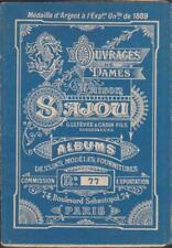 ALBUM SAJOU N° 77 BRODERIE OUVRAGES DE DAME-LETTRES ALPHABET DIFFERENTS MODELES