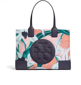 Tory Burch NEW Ella Pink Desert Bloom Flowers Printed Logo Snap Tote Bag $198