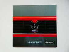 Prospekt / Katalog / Brochure Maserati Shamal  HOCHGLANZ !
