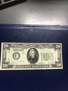1928 B series $20 Federal Reserve Note - Phila. Bank