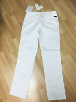 NWT Mens Armani Collezoini Ultra Smooth Chino Jeans White Straight W34 L34 H8.5