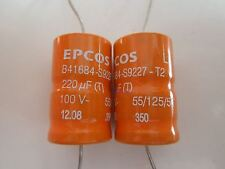 Epcos b41684-s9227-t2 220µf 100v LL * nuevo * * 10 unid. *