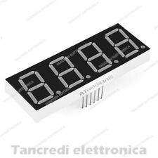 DISPLAY LED 7 SEGMENTI A 4 CIFRE DIGIT QUADRUPLO ROSSO A CATODO COMUNE