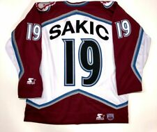 JOE SAKIC 1996 STANLEY CUP STARTER NHL COLORADO AVALANCHE JERSEY LARGE WHITE