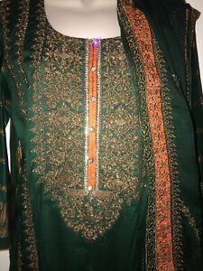 "Bust 22"" Pakistan Embroidered LAWN W/ Chiffon Duphatta"