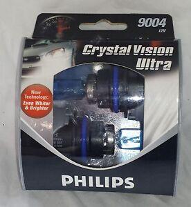 New Philips Crystal Vision Ultra 9004 CVS2 XENON Look  12V  2 PACK