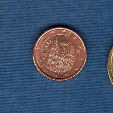 Espagne - 2002 - 1 centime d'euro - Pièce neuve de rouleau -