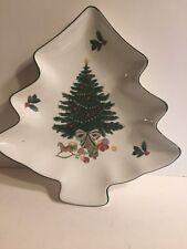 Mikasa Christmas Story Tree Shaped Plate - MINT