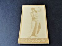 1880s G.W. Gail & Ax's Navy Tobacco Card with black & white image of lady.