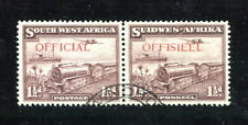 x358 - SOUTH WEST AFRICA 1938 OFFICIAL Issue PAIR. Sc# O17 Used. Cat $50