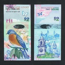 2009/2012 BERMUDA 2 DOLLARS HYBRID Z/2 004674 P-57b* UNC>Z/2 PREFIX REPLACEMENT