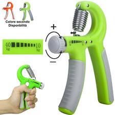 Attrezzo Molla regolabile avambraccio esercizi potenziamento muscoli hand grip