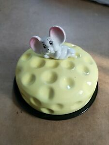 Cheese Dish Mouse Sat On Cheese