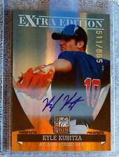 Atlanta Braves Kyle Kubitza 2011 Elite Extra Edition Auto Card #/865
