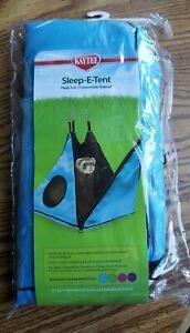 KAYTEE Pet Sleep-E-Tent/Hammock 2 in 1 Convertable Hideout, Blue NEW
