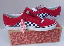 VANS Check Checkboard Corduroy Red Black White Skate Shoes Mens 13 USA 12  47 NEW f1ab2fb76