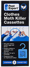Pest Expert Clothes Moth Killer Cassettes (Twinpack) **NEW**
