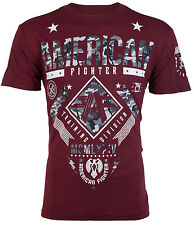 American Fighter Mens S/S T-Shirt LANDER Burgundy Grey Camo S-3XL $40
