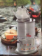 Holzkohle Samowar 3,9 Liter+Teekanne 1,2 Liter,Samovar, Edelstahl Neu